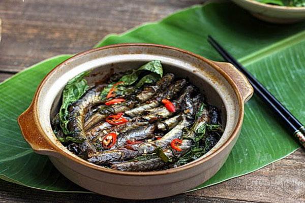 Cá kèo kho rau răm thơm ngon