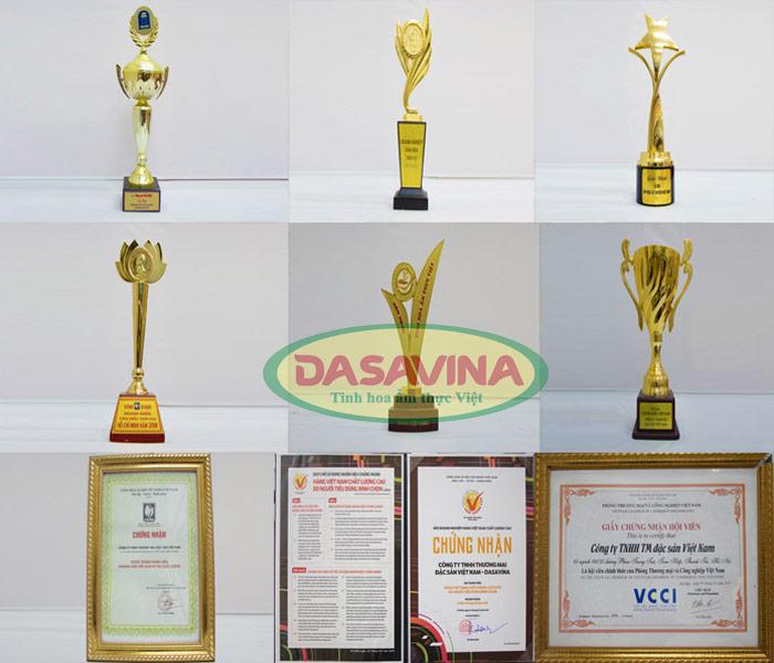 Một số giải thưởng danh giá của thương hiệu cá kho Bá Kiến