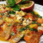 Món cá hồi xốt chanh dây thơm ngon hấp dẫn