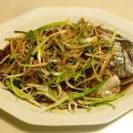 Món Cá rô phi hấp hành, gừng thơm ngon