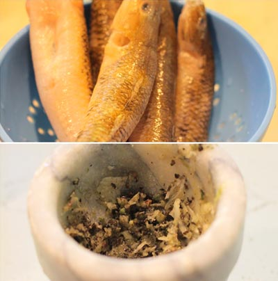 Cá bống ướp hạt tiêu