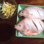 Món cá điêu hồng nướng với gừng sả rất ngon