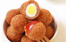 Trứng cút bọc thịt chiên xù