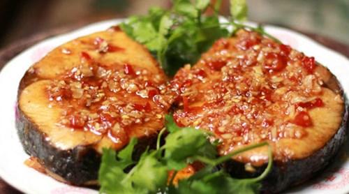 Món cá thu rim tỏi ớt ngon tuyệt