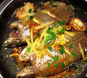 Cá rô kho nghệ