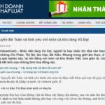Nguyễn Bá Toàn và tình yêu với món cá kho làng Vũ Đại – Hà Nam (Báo Kinh doanh và Pháp Luật)
