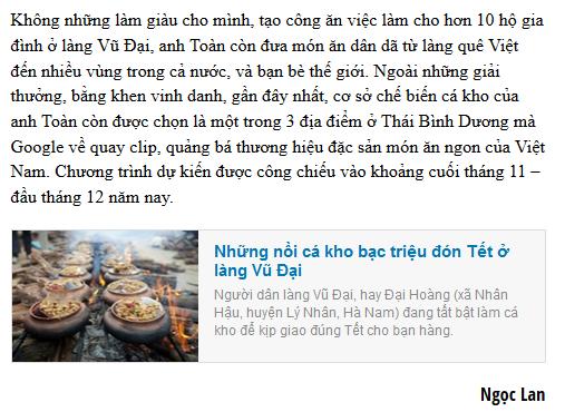 Anh Nguyễn Bá Toàn sẽ làm thay đổi bộ mặt làng quê Vũ Đại - đem lại cuộc sống đầy đủ và danh tiếng cho các nghệ nhân của làng Vũ Đại