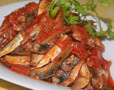 Ca trích kho cà chua - món ăn ngon không thể bỏ qua