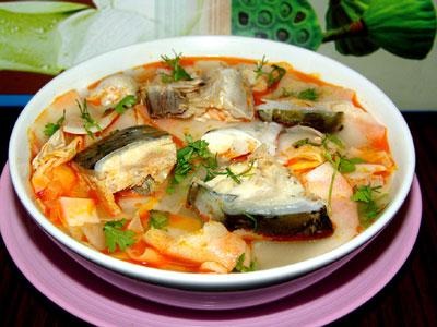 Canh chua cá bớp thơm ngon và hấp dẫn