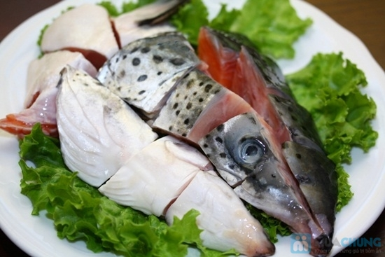 Nguyên liệu làm món lẩu đầu cá hồi