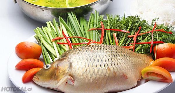 Nguyên liệu làm món lẩu cá chép