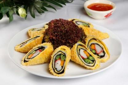 Cá cuộn rong biển vừ đẹp mắt vừa ngon miệng
