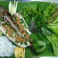 Cá lóc nướng cuốn rau củ sống cực ngon