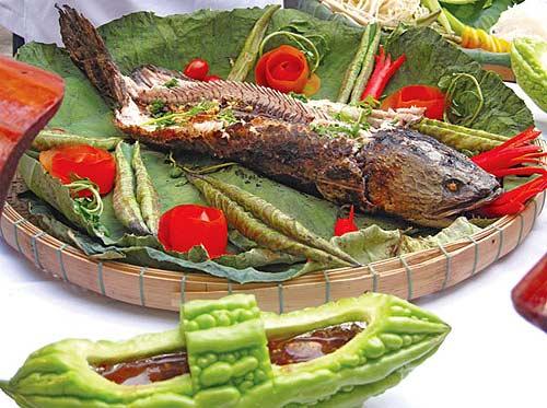 Cá Lóc Nướng Chấm Mắm Ớt Ngon Tuyệt