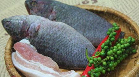 Nguyên liệu làm món cá rô kho tiêu