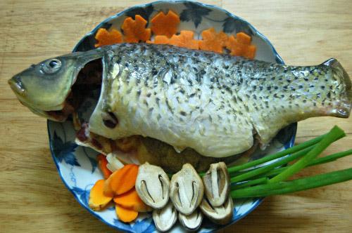 Nguyên liệu làm món cá chép kho nghệ