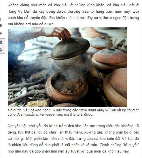Niêu cá kho của Công ty Đặc Sản Việt Nam - DASAVINA đảm bảo 16 tiếng liên tục