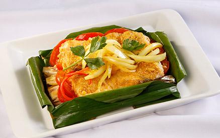 Cá chẽm nướng lá chuối cực ngon