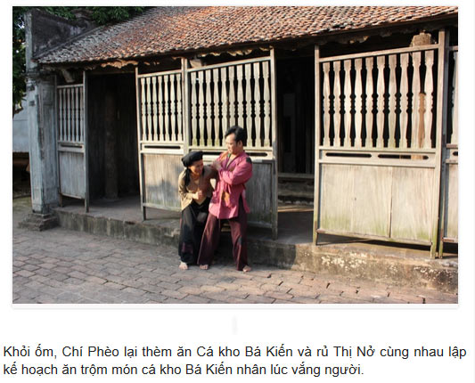 Nhân lúc Bá Kiến sơ hở vợ chồng Chí Thị lẻn ngay vào nhà ăn trộm