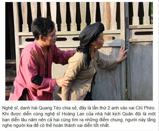 Nghệ Sỹ Quang Tèo và nghệ sỹ Ngọc Lan diễn xuất rất hay khiến khăn giả không vơi tiếng cười khi xem diễn