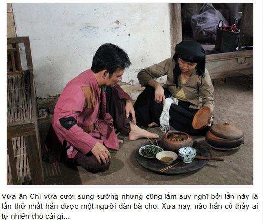 Hai vợ chồng Chí Phèo Thị Nở đăng ăn cơm với món Cá kho Bá Kiến