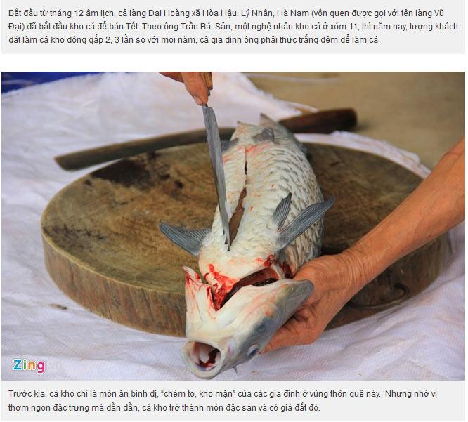 Cá được chế biến đúng quy cách và sạch sẽ