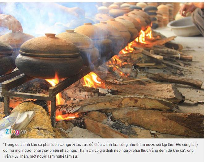 16 tiếng khói lửa liên tục mới cho ra lò niêu cá kho làng Vũ Đại chính hiệu