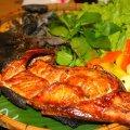 Cá basa nướng rau húng lủi