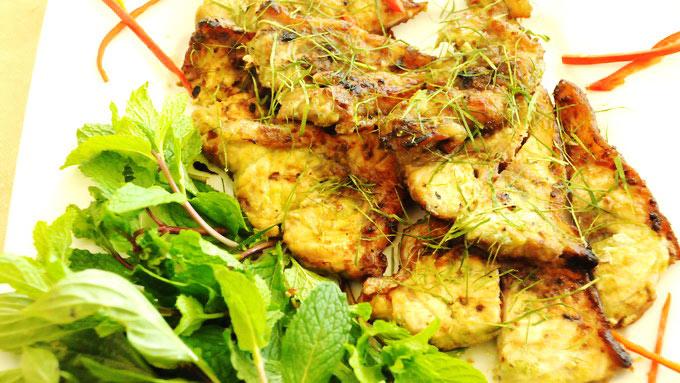 Cá basa nướng húng lủi lạ miệng và hấp dẫn