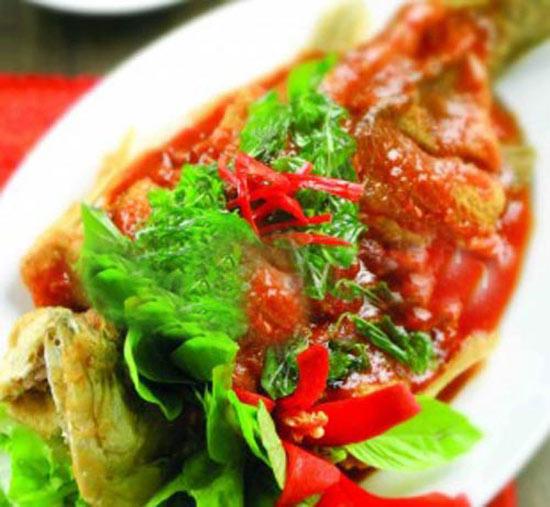 Cá chẽm sốt 3 vị, cá chẽm nướng lá chuối đều là những món ăn độc đáo, vô cùng ngon