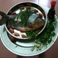Nguyên liệu làm món cá chim hấp xì dầu