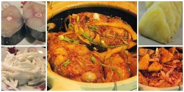 Nguyên liệu làm món cá kho củ cải