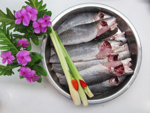 Nguyên liệu làm cá lóc chiên sả