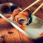 Đổi vị với thịt xông khói cuốn chả cá