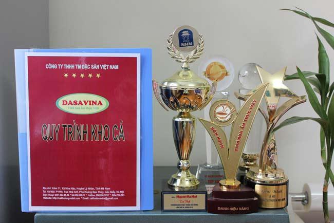 Quy trình kho cá của DASAVINA đã được trao tặng nhiều danh hiệu vàng