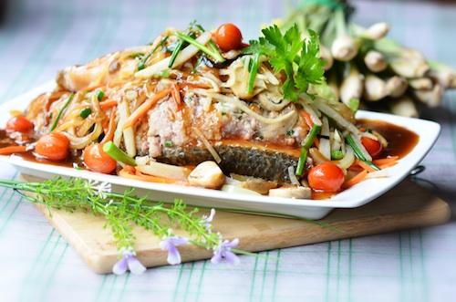 Cá lóc hấp củ sắn lạ mà ngon vị béo ngậy bùi bùi