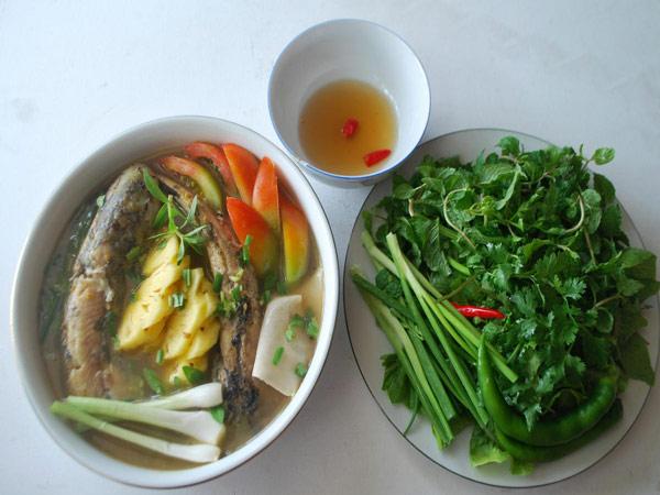 Cá ngát nấu canh chua