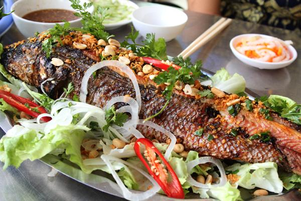 Cá lóc quay nước cốt dừa béo ngậy thơm ngon